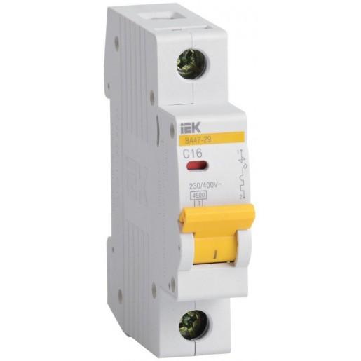 Автоматический выключатель ВА47-29 1P 6А 4,5кА (MVA20-1-006-C)