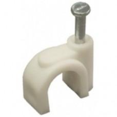 Скоба пластиковая с гвоздем, D=7-8 (100шт) (51700)