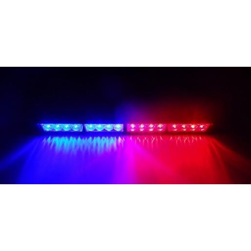 Светодиодная рейка с режимом стробоскопа красно-синяя